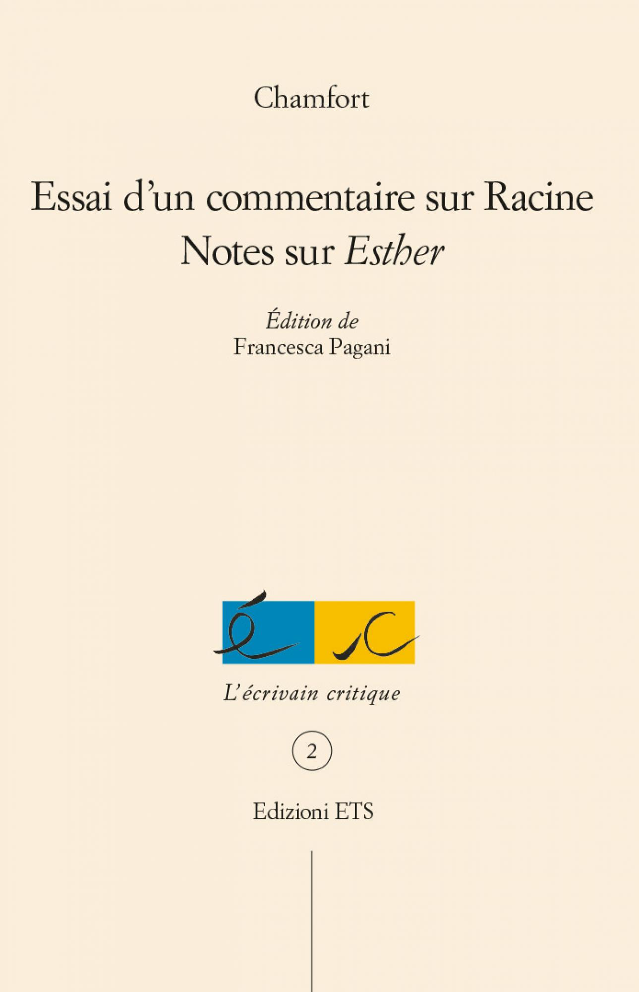 Essai d'un commentaire sur Racine.
