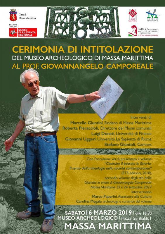 Cerimonia di intitolazione del Museo Archeologico di Massa Marittima a Giovannangelo Camporeale
