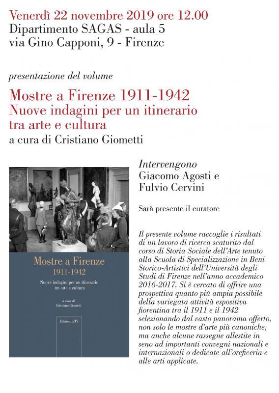 Mostre a Firenze 1911-1942