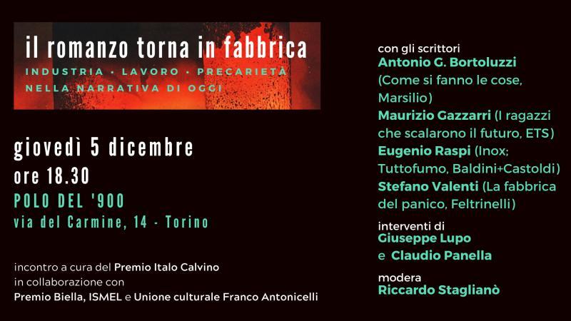 Maurizio Gazzarri partecipa all'evento il romanzo torna in fabbrica