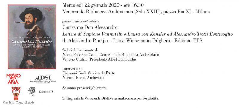 Carissimo Don Alessandro alla Biblioteca Ambrosiana