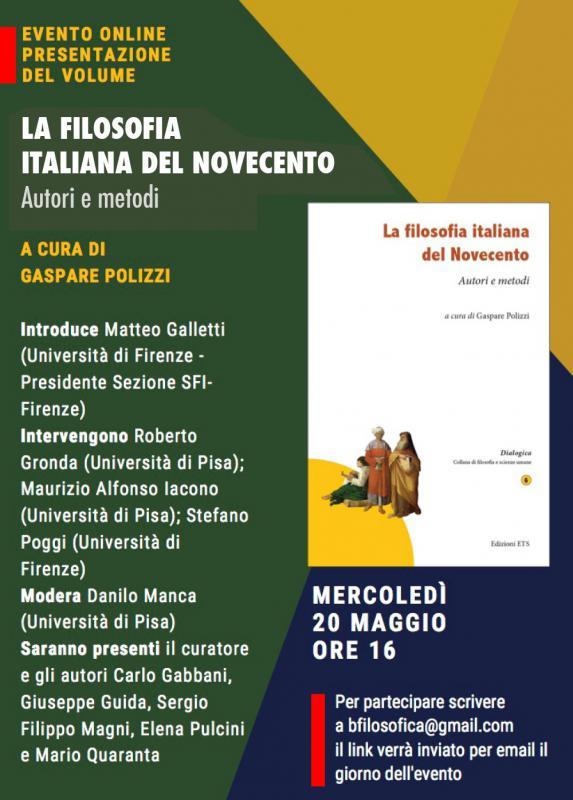 La filosofia italiana del Novecento