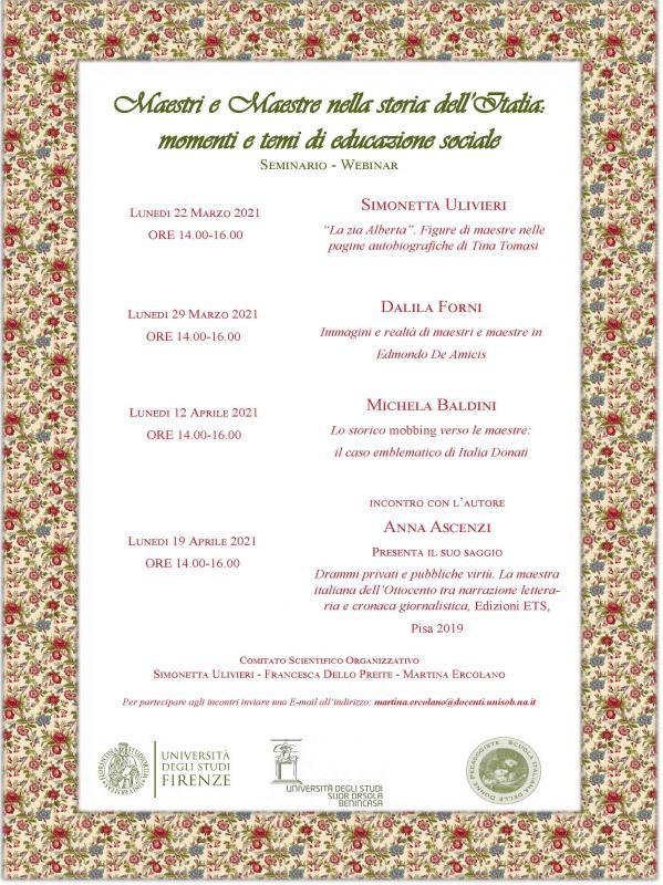 Maestri e maestre nella storia dell'Italia