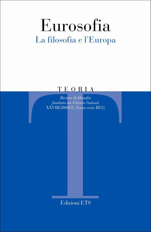 Teoria 2008-2. Eurosofia.La filosofia e l'Europa