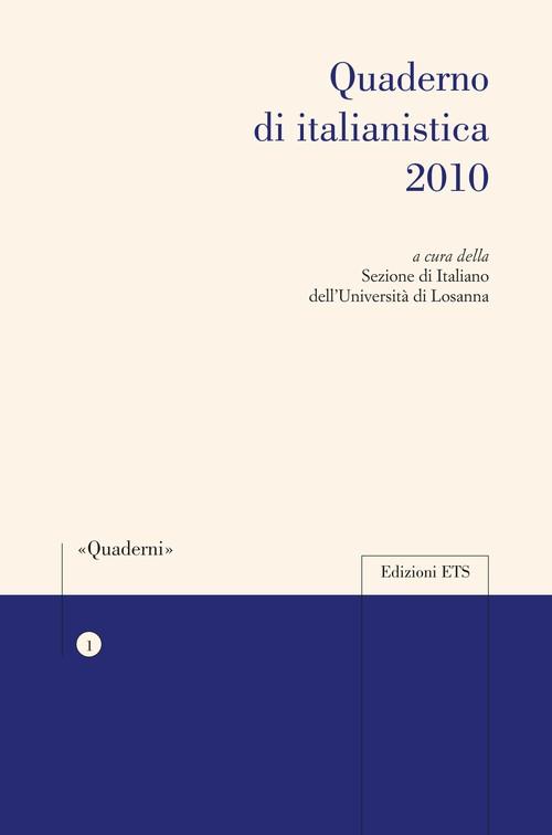 Quaderno di italianistica 2010