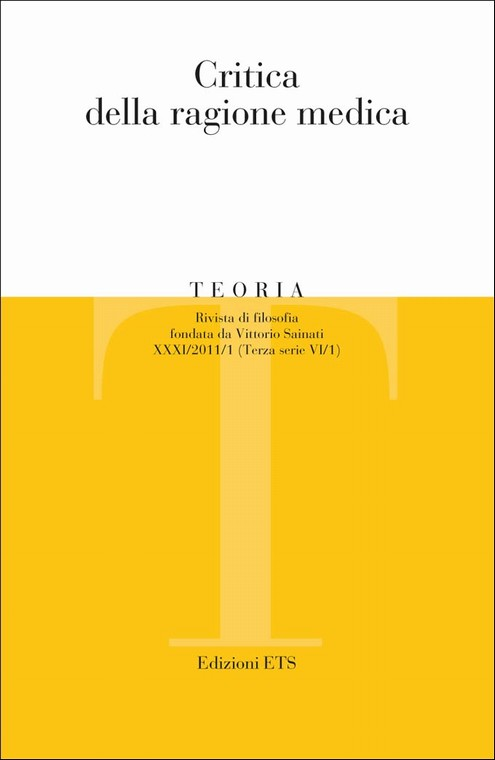 Teoria 2011-1.Critica della ragione medica