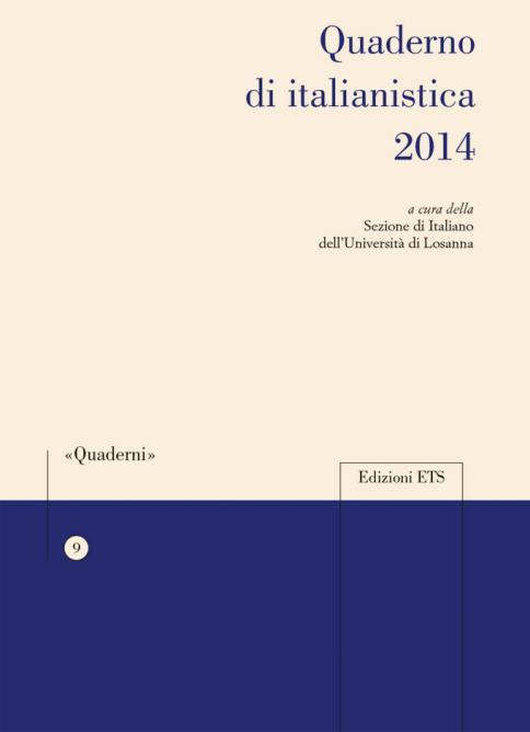 Quaderno di italianistica 2014