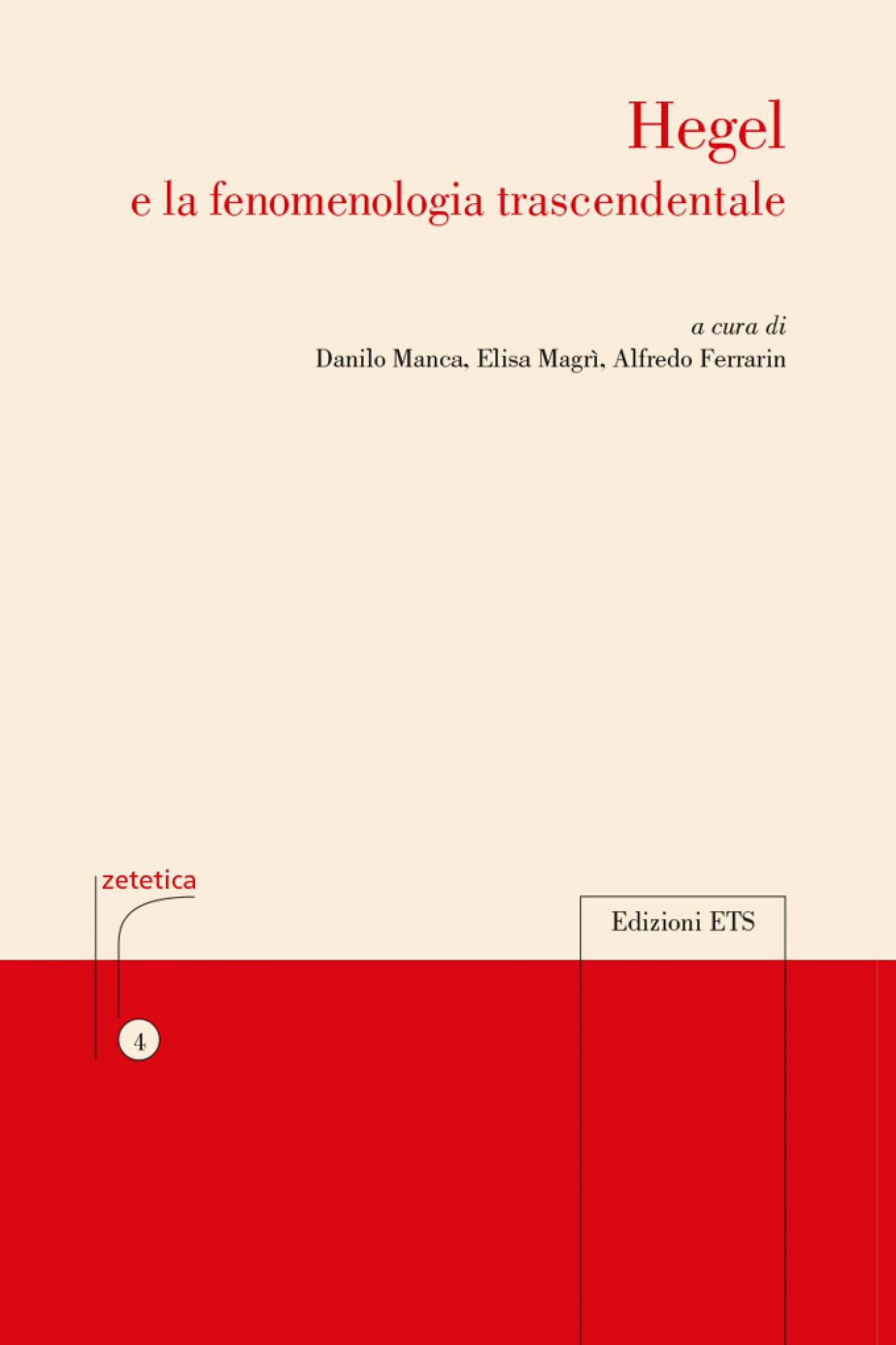 Hegel e la fenomenologia trascendentale