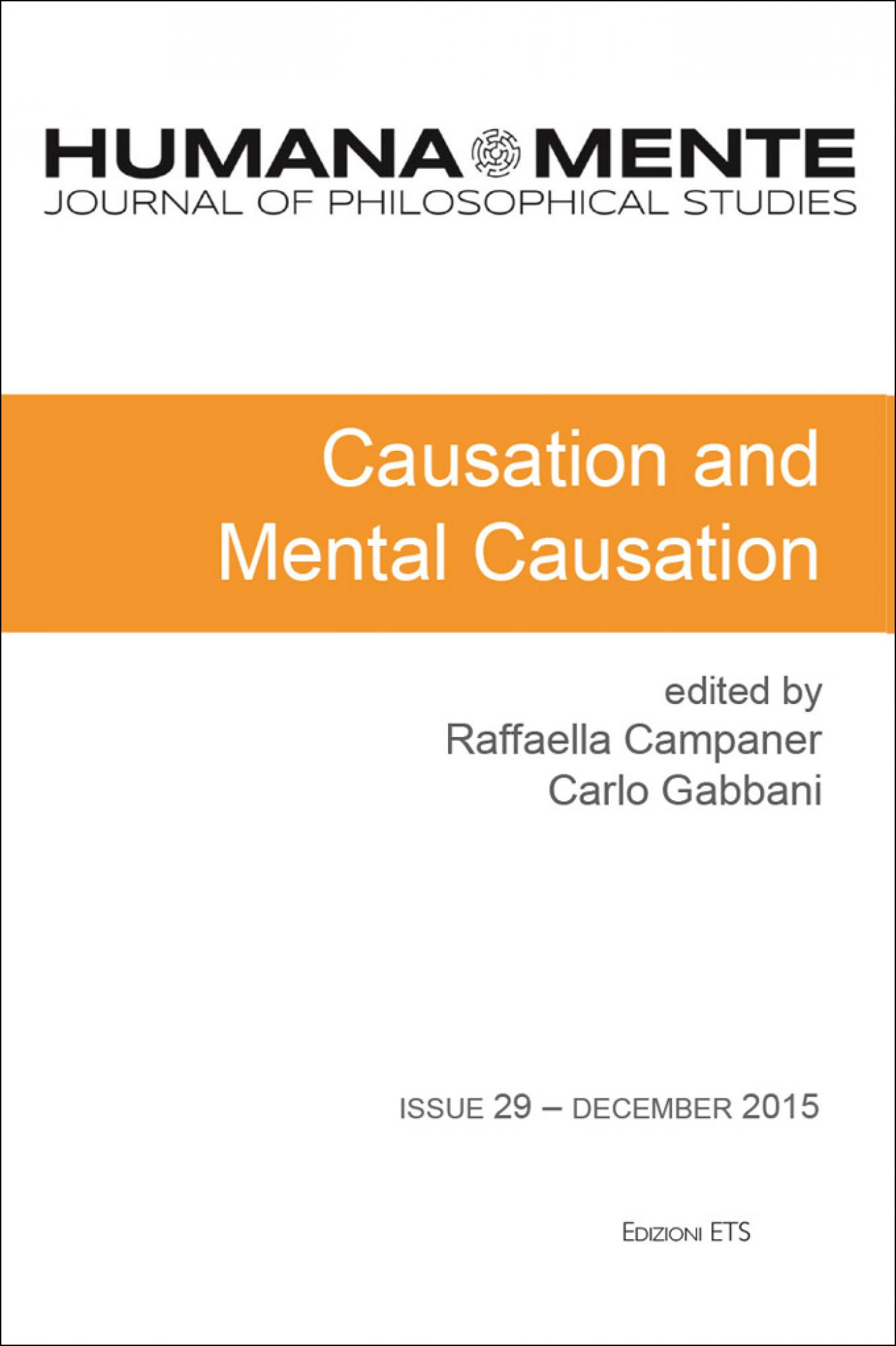 HumanaMente – 29.Causation and Mental Causation