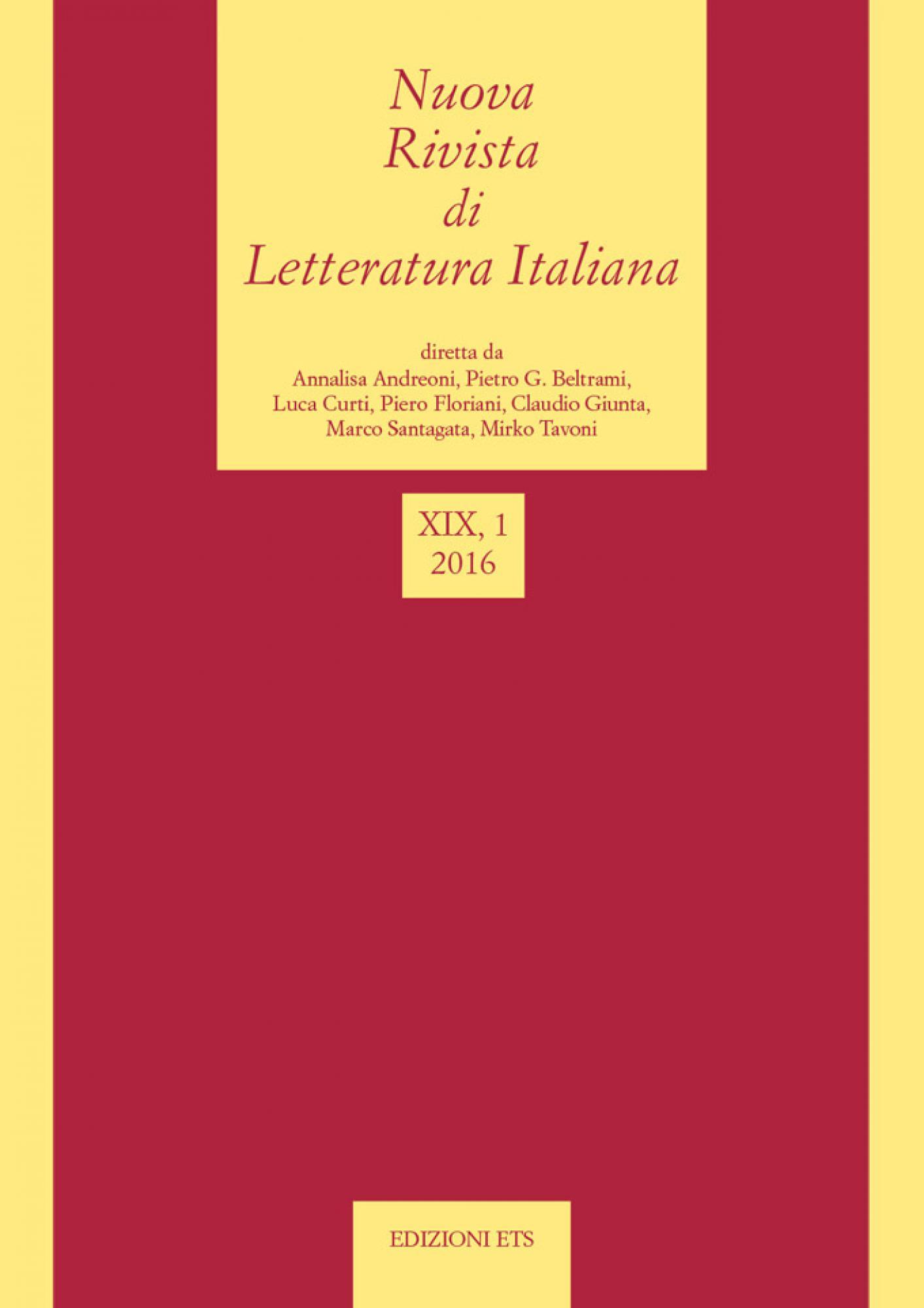 Nuova Rivista di Letteratura Italiana.2016, 1