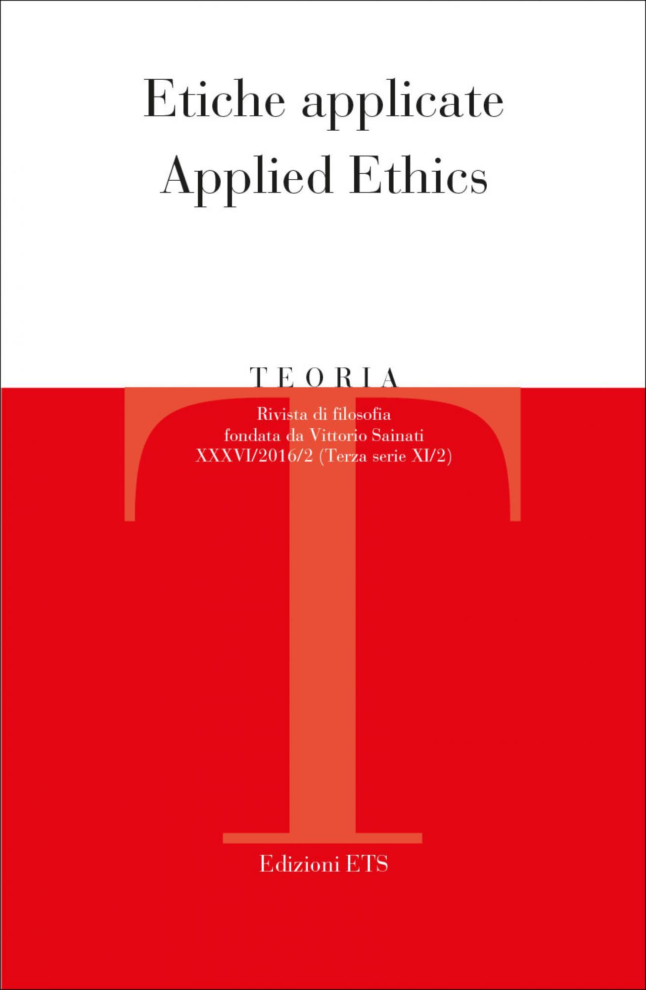 Teoria 2016-2.Etiche applicate / Applied Ethics