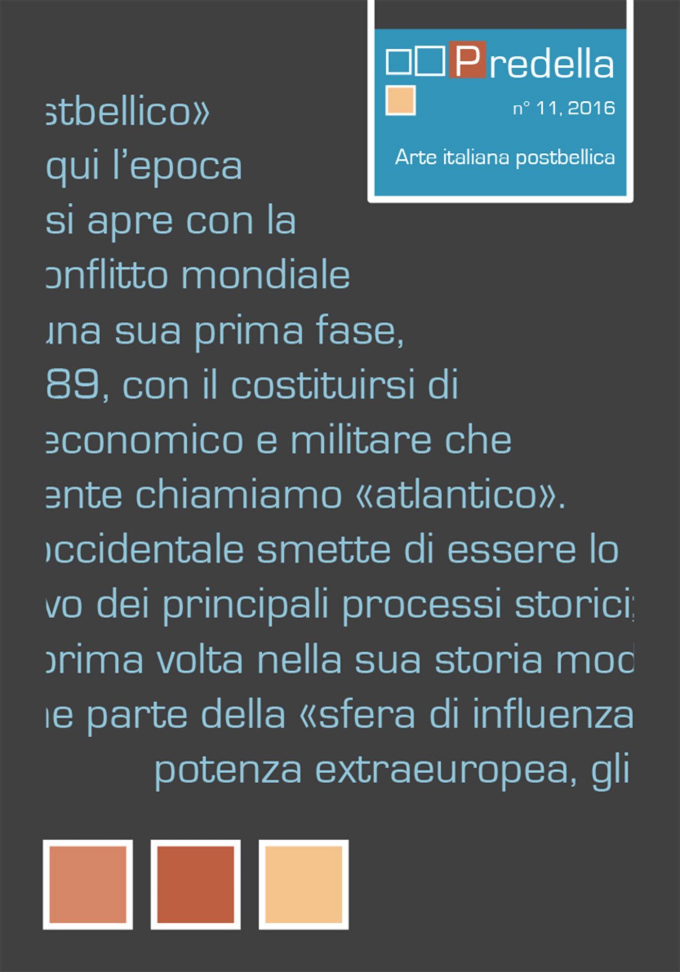 Arte italiana postbellica.predella / monografie, n°11