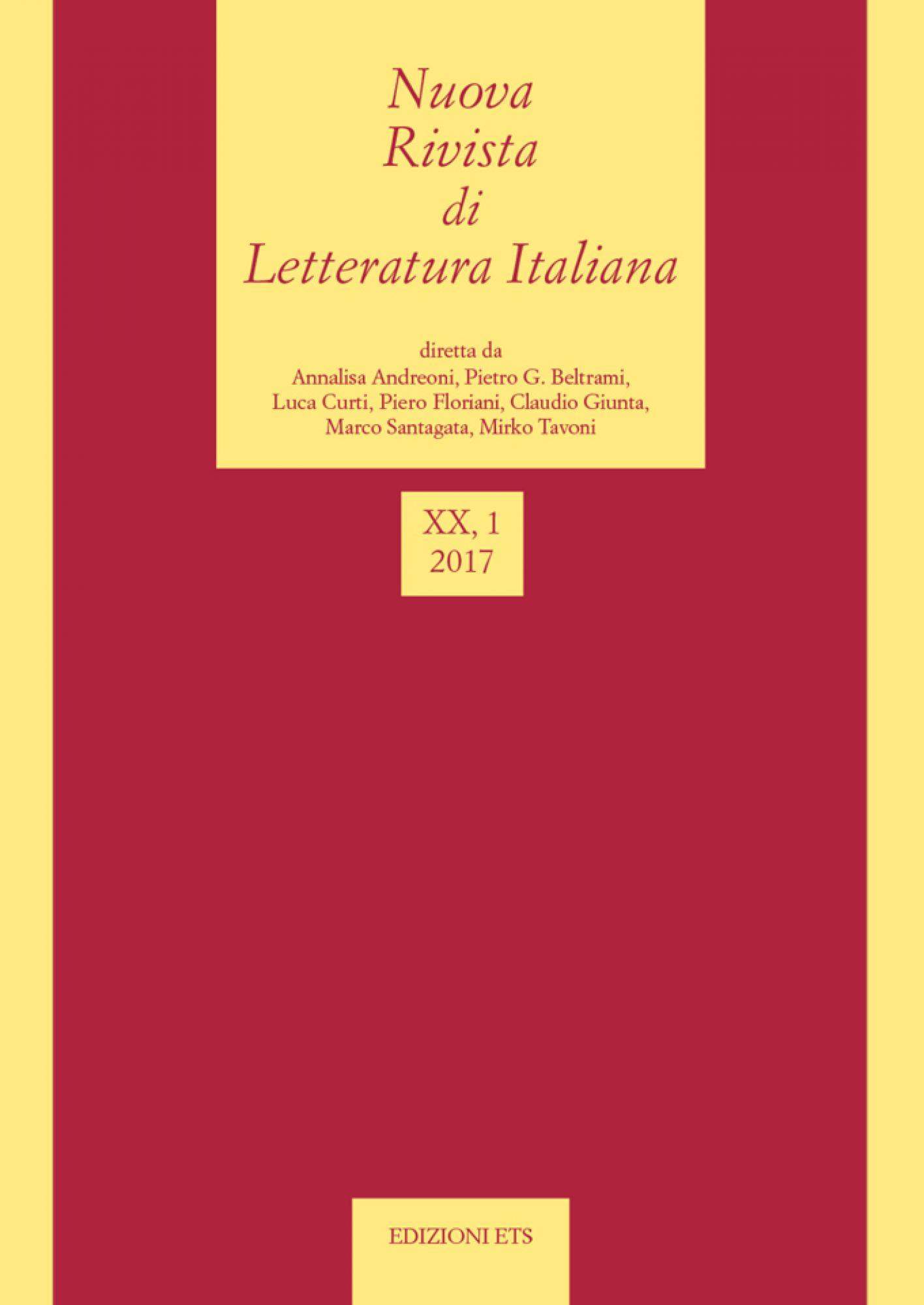 Nuova Rivista di Letteratura Italiana.2017, 1