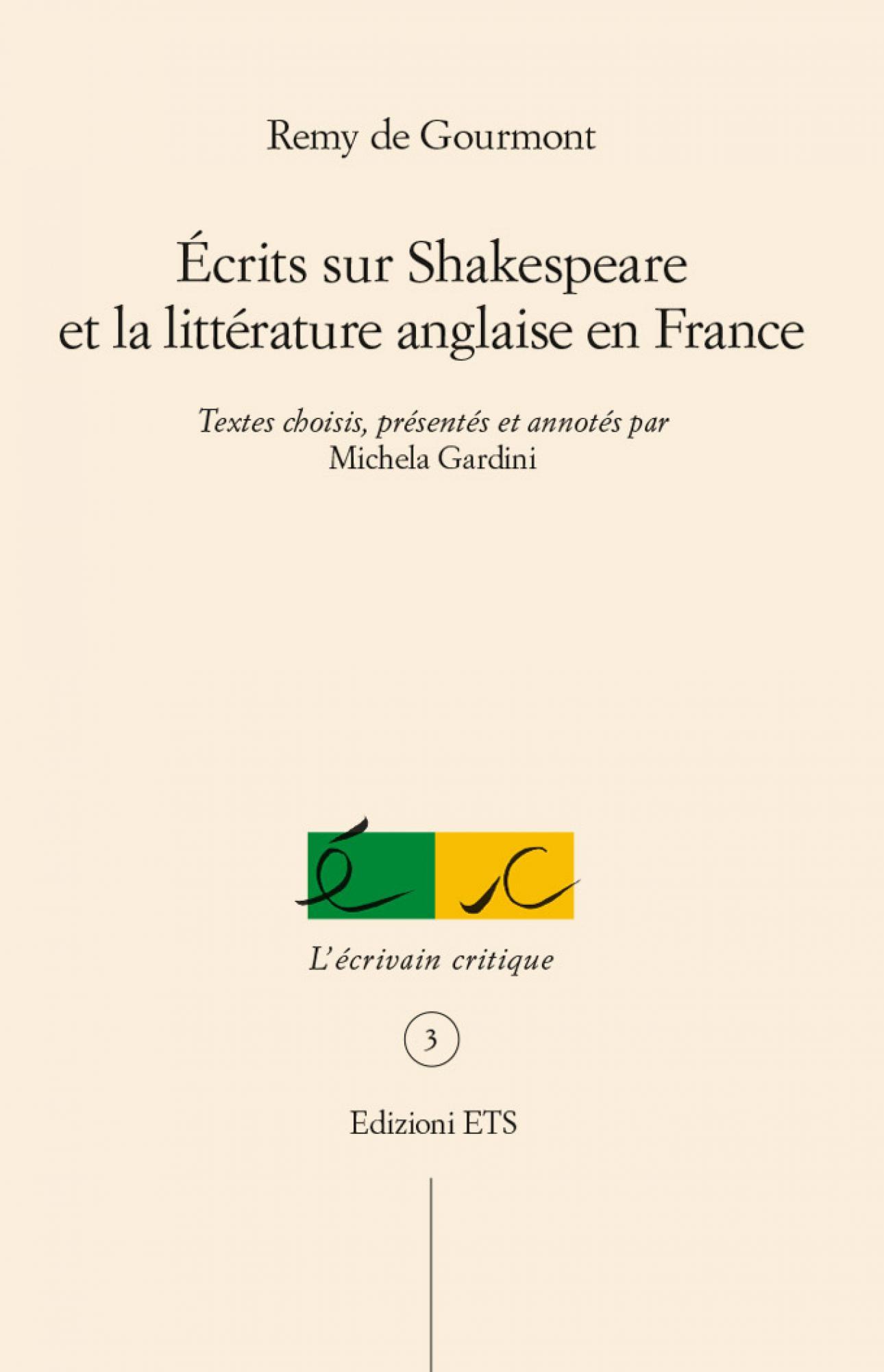 Écrits sur Shakespeare et la littérature anglaise en France