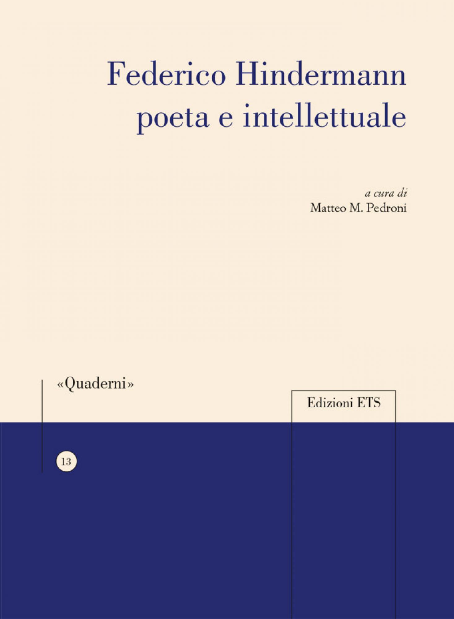 Federico Hindermann poeta e intellettuale