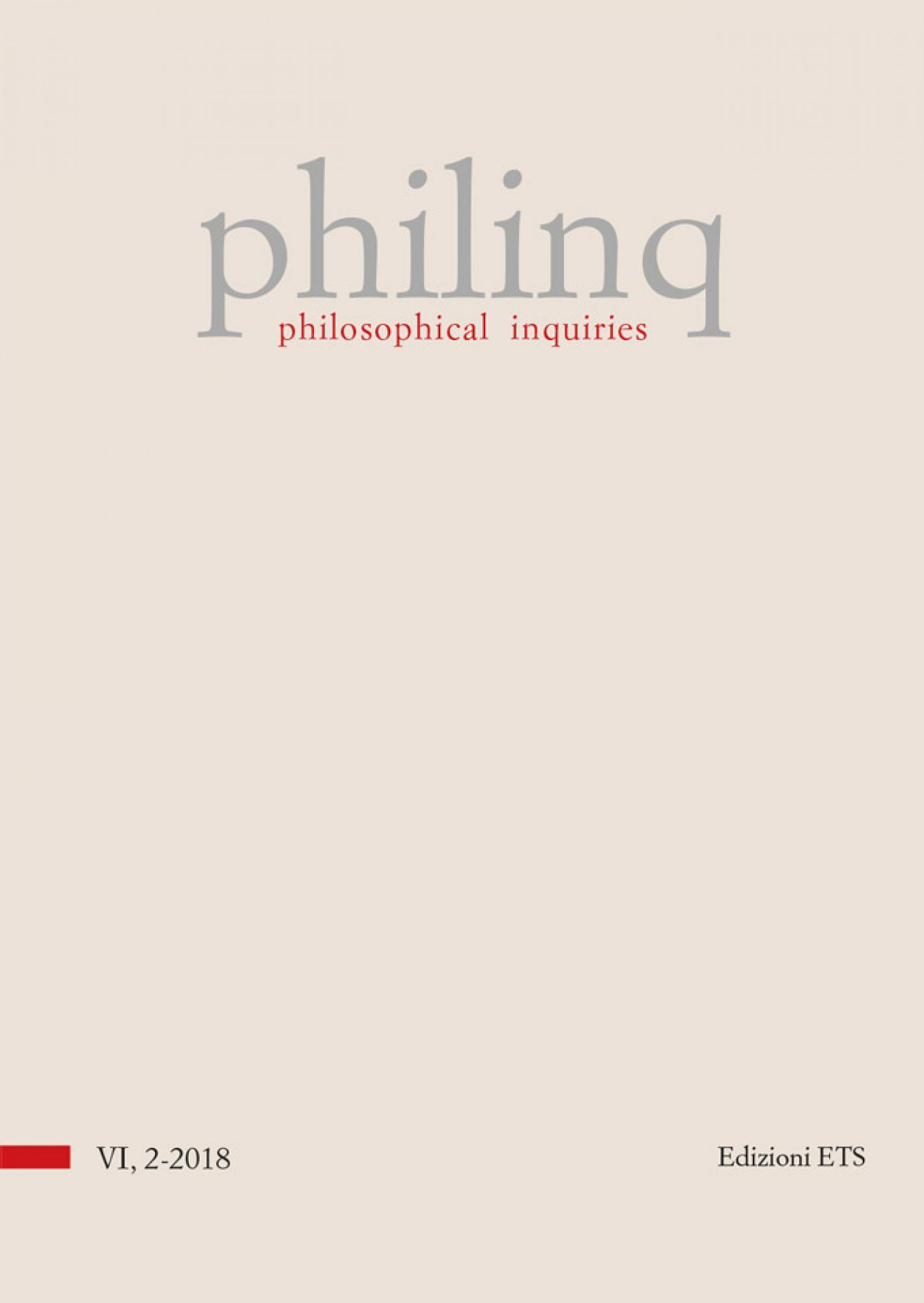philosophical inquiries.volume 6, issue 2-2018