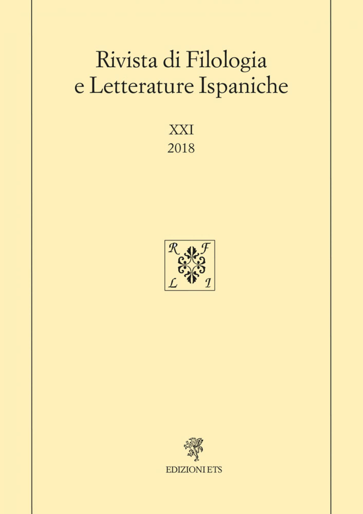 Rivista di Filologia e Letterature Ispaniche.XXI, 2018