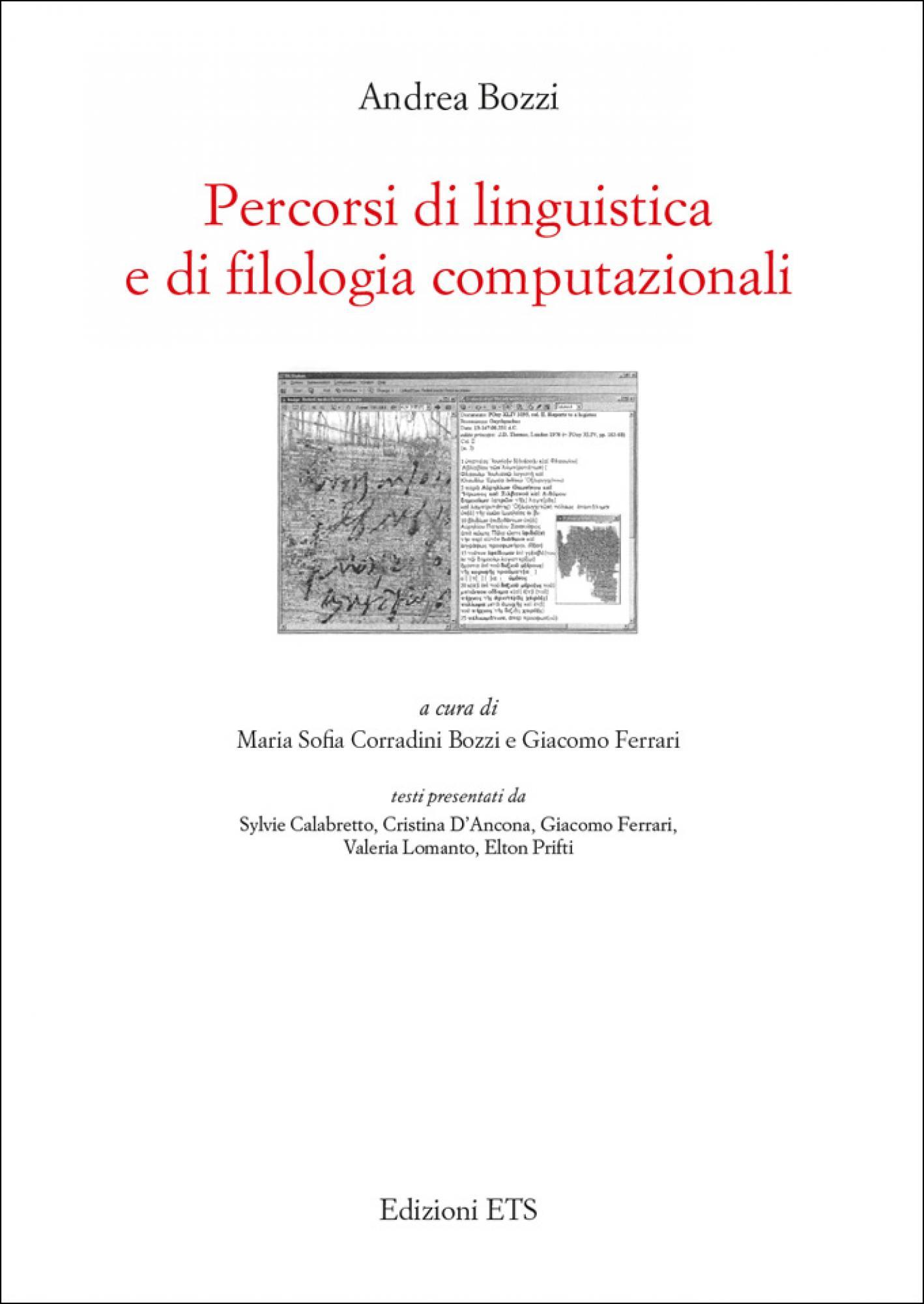 Percorsi di linguistica e di filologia computazionali