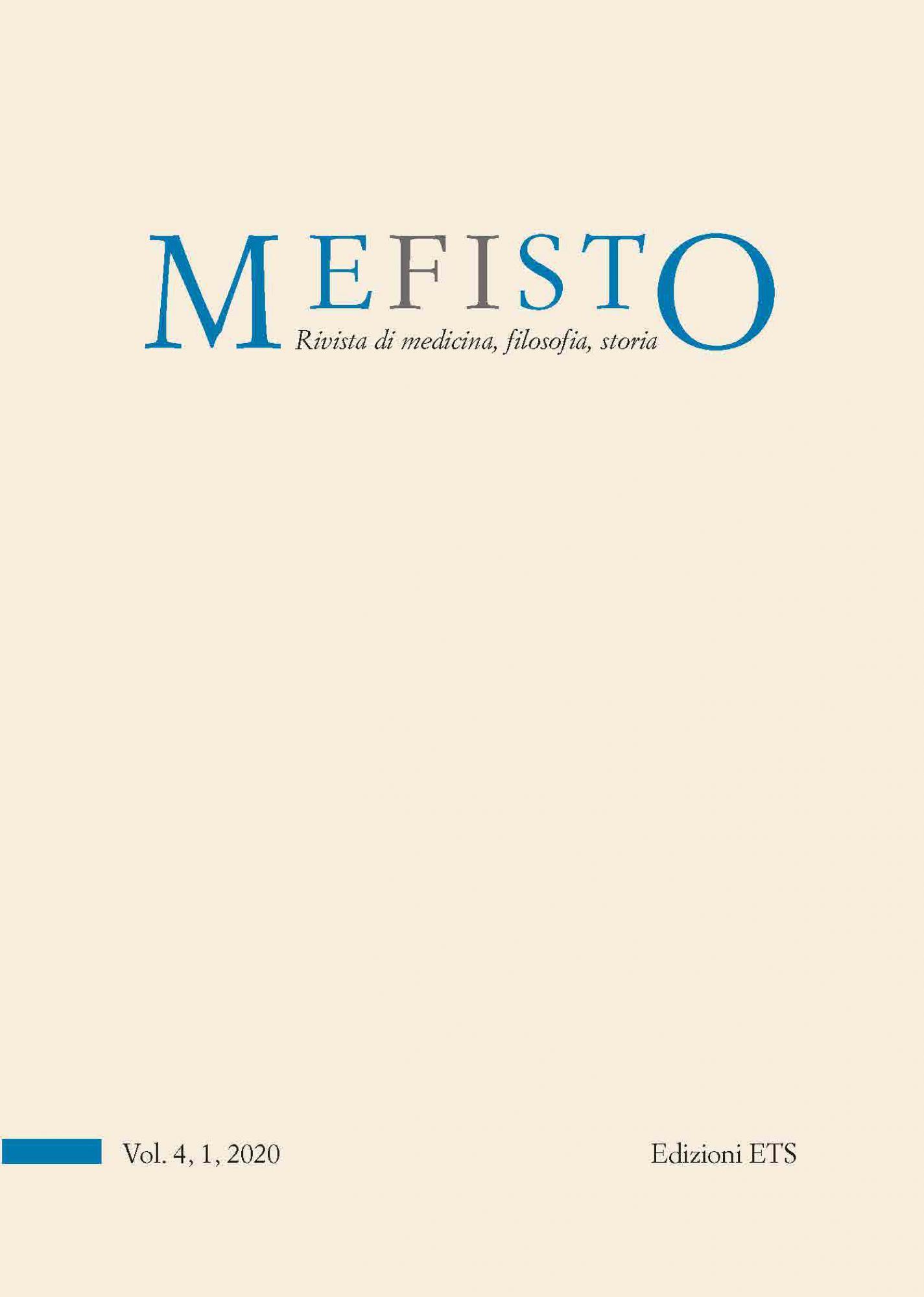 Mefisto. Rivista di medicina, filosofia, storia.Vol. 4, 1, 2020