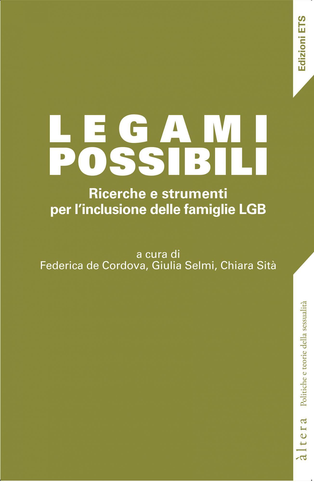 Legami possibili.Ricerche e strumenti per l'inclusione delle famiglie LGB