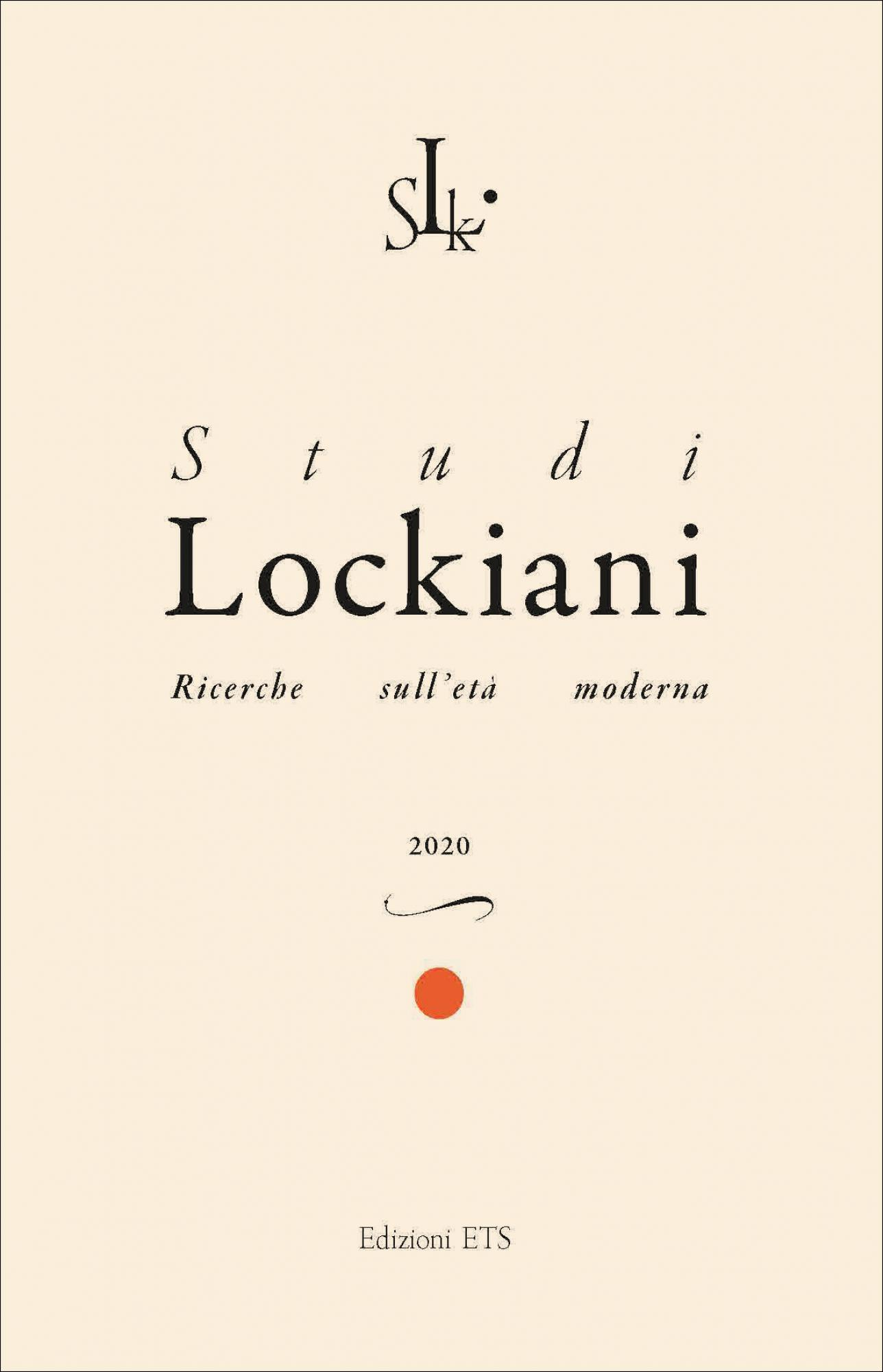 Studi Lockiani 1, 2020.Ricerche sull'età moderna