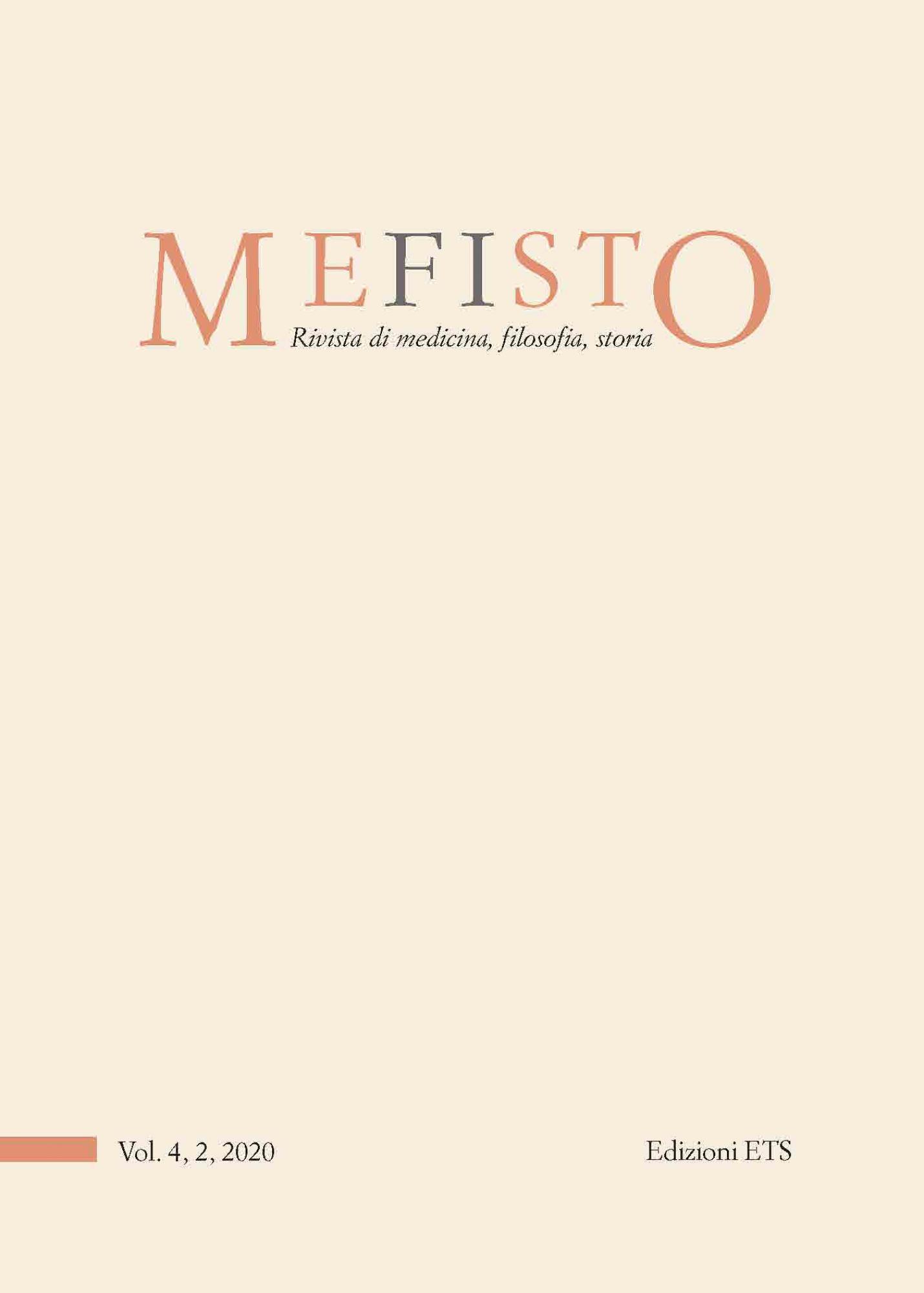 Mefisto. Rivista di medicina, filosofia, storia.Vol. 4, 2, 2020
