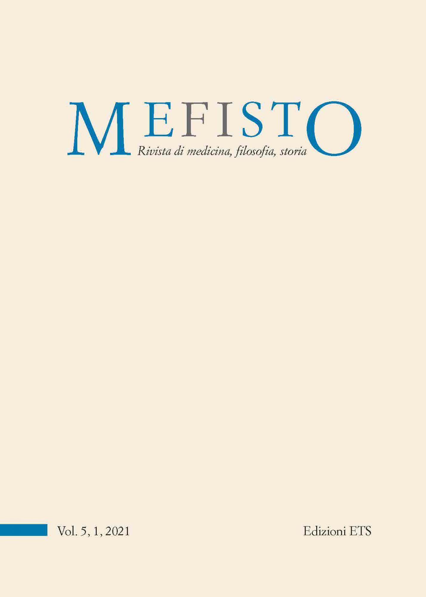 Mefisto. Rivista di medicina, filosofia, storia.Vol. 5, 1, 2021