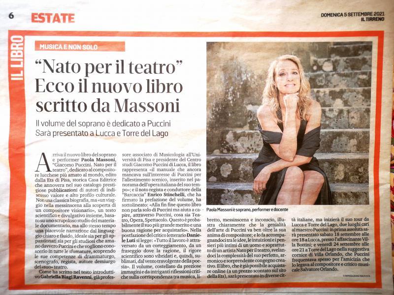 Nato per il teatro, ecco il nuovo libro di Paola Massoni